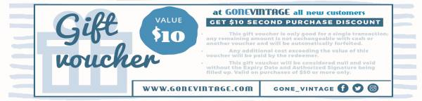 Receive a $10 Second Purchase Gift Voucher